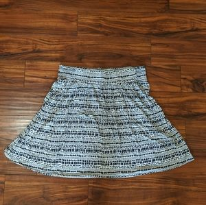 Lane Bryant skirt size 18/20 white with blue